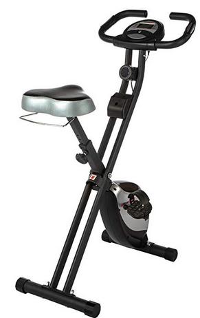 Ultrasport F-Bike Heavy Cyclette Allenamento Pulsazioni Pieghevole Nero/Argento
