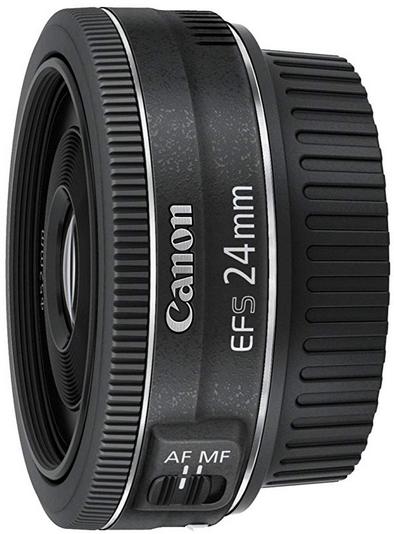 Canon Obiettivo Pancake EF-S 24 mm F/2.8 STM, Nero/Antracite