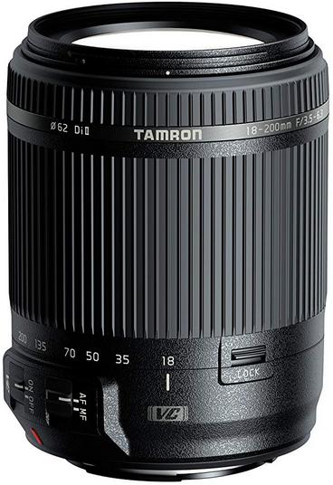 Tamron 18-200mm F/3,5-6,3 Di II VC Obiettivo Stabilizzato per Canon, Nero